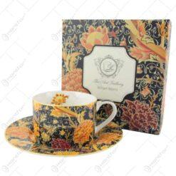 """Ceasca cu farfurie 250ml """"Cray Floral"""" de William Morris"""