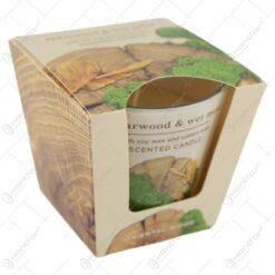 Lumanare parfumata in pahar Oriental Wood 115 gr