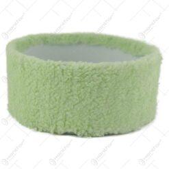 Tava pentru decor cu blana sintetica Verde 16 CM