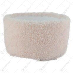 Tava pentru decor cu blana sintetica Roz 20 CM