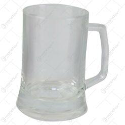 Halba de bere din sticla transparenta - Se vinde 6 buc/bax.