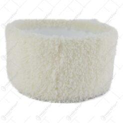 Tava pentru decor cu blana sintetica Alb 20 CM