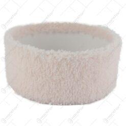 Tava pentru decor cu blana sintetica Roz 16 CM