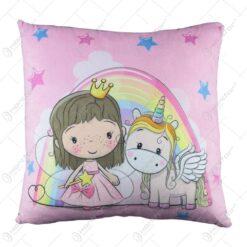 Perna de plus pentru copii Unicorn/Bufnita 34x30 CM