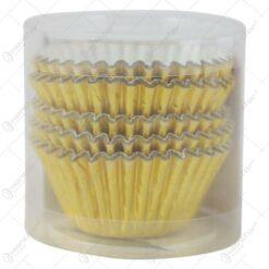 Hartie Muffin/Briose 100 buc. 10 CM Auriu