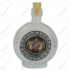 Plosca din sticla cu stema Ungariei 0.1 L