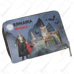 Portofel cu design Romania/Dracula 14x9 CM