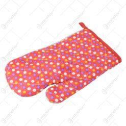 Manusa de bucatarie din textil cu buline 26 CM