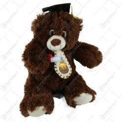 Ursulet din plus pentru absolvire 30 CM