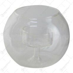 Bol din sticla cu suport lumanare 10x8 CM