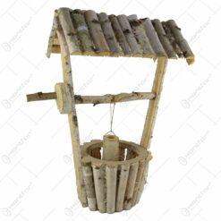 Fantana decorativa din lemn de mesteacan 55 CM