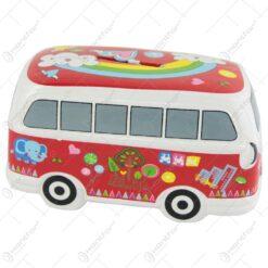 Pusculita Autobuz Hippie din ceramica 15 CM