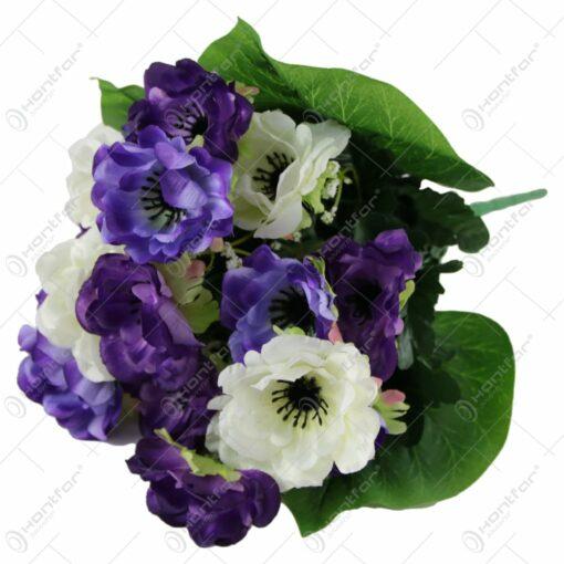 Buchet artificial cu flori de maci 40 CM
