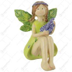 Figurina Zana florilor cu lavanda din rasina 7 CM