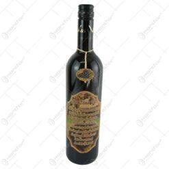 "Vin rosu 0.75 ml cu eticheta din pluta ""De ziua ta..."""