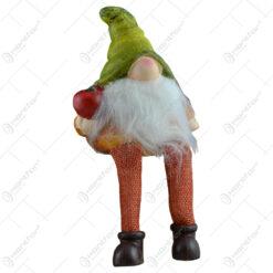 Figurina realizata din ceramica cu picioare din textil - Spiridus - 2 modele