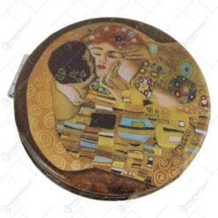 """Oglinda buzunar """"Sarutul"""" de Gustav Klimt 7 CM"""