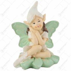 Figurina Zana florilor cu aripi din rasina 8 CM