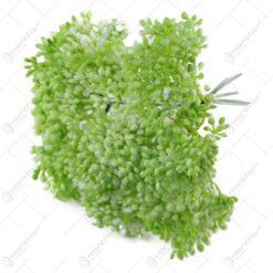 Pick bobite floare artificiala 20 CM Verde/Roz