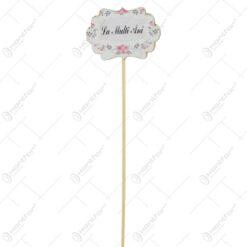 "Set 6 pick tablite decorative ""La multi ani"""