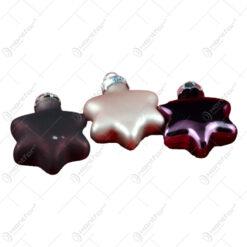 Set 8 globuri realizate din plastic in forma de stea pentru brad de craciun - Diferite modele (Auriu)