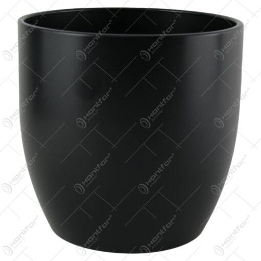 Ghiveci din ceramica Basel Fashion Negru 18x19 CM