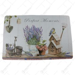 Set 4 suport farfurie din plastic Lavanda/Perfect Home 43x28 CM