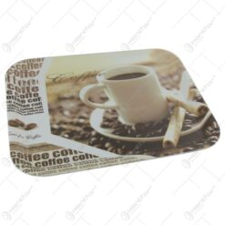 Tava pentru servire din plastic Coffee 38x29 CM