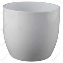 Ghiveci din ceramica Basel Full Alb
