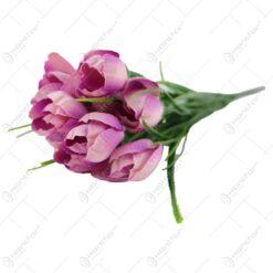 Floare artificiala Crocus cu verdeata 34 CM
