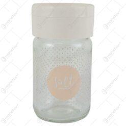 Solnita din sticla cu buline Salt/ Pepper/Spice 120 ml