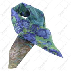 "Esarfa din matase Van Gogh  ""Iris"" 70x70 CM"