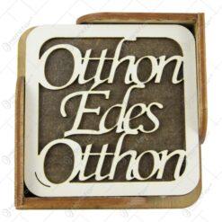 """Set 6 suporturi pahare din lemn 10 CM """"Edes otthon"""""""