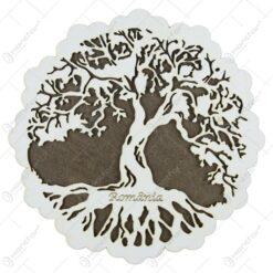 Suport oale traforaj din lemn Copacul Vietii 20 CM
