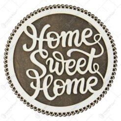 """Suport oale traforaj din lemn """"Home sweet home"""" 20 CM"""