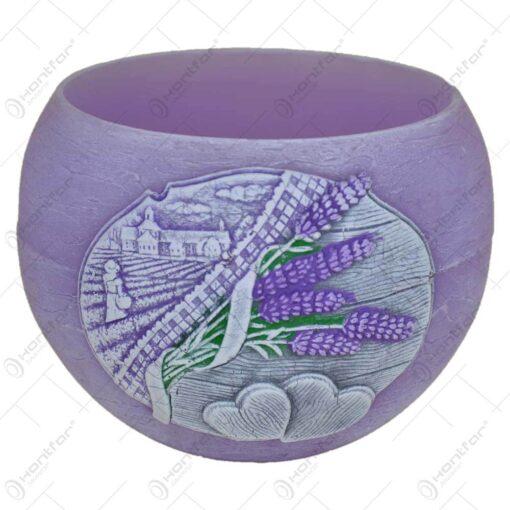 Lumanare tip lampion - Design Lavender Kiss 12 CM