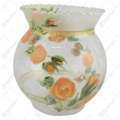 Vaza din sticla cu trandafiri 12 CM