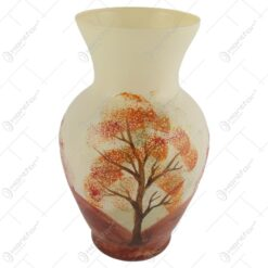 Vaza realizata din sticla 19 CM – Design cu peisaj de toamna