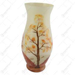 Vaza realizata din sticla 30 CM – Design cu peisaj de toamna