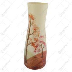 Vaza realizata din sticla 26 CM – Design cu peisaj de toamna