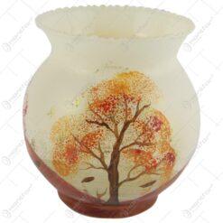 Vaza realizata din sticla 12 CM – Design cu peisaj de toamna