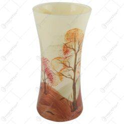 Vaza realizata din sticla 9x19 CM – Design cu peisaj de toamna