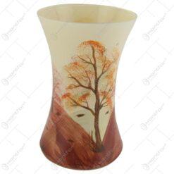 Vaza realizata din sticla 11x19 CM – Design cu peisaj de toamna