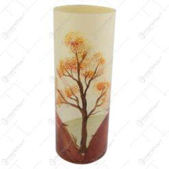 Vaza realizata din sticla 23 CM – Design cu peisaj de toamna