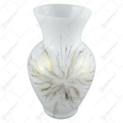Vaza din sticla 19 CM – Design Fantezia Gri