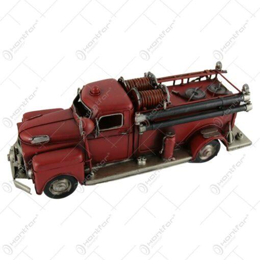 Macheta metalica masina de pompieri retro 32 CM
