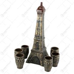 Set pentru vin din ceramica cu 6 cani - Turnul Eiffel