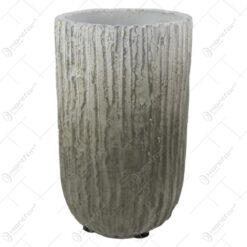 Ghiveci/Vaza din piatra antichizat Gri 12x20 CM