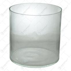 Vaza cilindrica din sticla pentru orhidee de dimensiunea 15X12cm