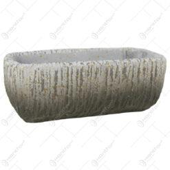 Ghiveci oval din piatra antichizat 18x7 CM